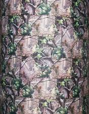 "5 Yards 7/8"" Real Tree Mossy Oak Inspired Camo Hunting Grosgrain Ribbon"