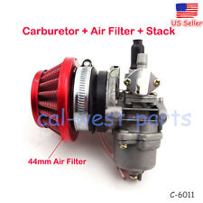 New 44mm Carburetor Air Filter Stack Fits 47cc 49cc ATV Dirt Pocket Bike Go Kart
