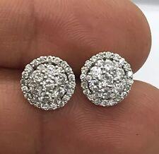 14kt Men's Gold Diamond Cluster Earrings ( 1.22ctw)