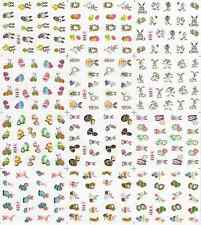 12 Design Cartoon Decals Water Transfer Nail Sticker SetNail Art NS166