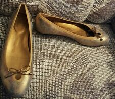 Cole Haan 8 gold multi-color low heels flats loafers shoes made in Brazil