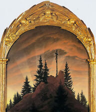 Nice Oil painting caspar david friedrich the cross in the mountains with sunrise