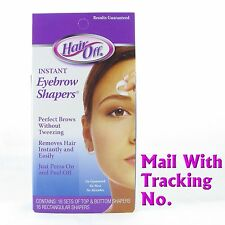 Hair Off HairOff Instant Eyebrow Shapers 18 Cold Wax Strips Sent W/ Tracking No