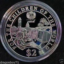 Singapore 1997 Children of the World UNICEF Silver Proof $2 Coin (Rare)