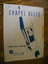 SHEET MUSIC CHAPEL BELLS PIANO SOLO BY JUAN MASTERS