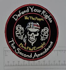 Defend your Rights Club Outlaw Biker Funny Motorcycle Iron On Small Patch