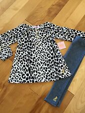 Juicy Couture Black Leopard Top & Jegging  Set  NWT Size 2T