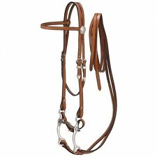 Medium Oil Complete Western Bridle Include Reins Bit Curb New Horse Tack