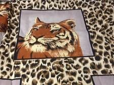 Cynthia Rowley Leopard Tiger Animal King Duvet Comforter Cover Set 2Pillowcases