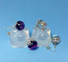 CLEAR SILICONE MOLD, (MP090), TWO SPHERE BALLS EARRINGS OR PENDANTS