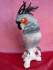 belle figurine en porcelaine__Perroquet__cacatoès__ens (Thuringe, allemagne)__