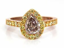 GIA Certified 2.04ct. Fancy Pink Diamond Ring 18kt.