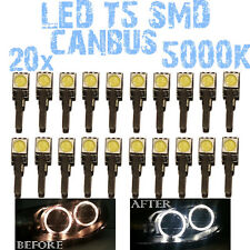 N° 20 LED T5 5000K CANBUS SMD 5050 Phares Angel Eyes DEPO Renault Clio 3 III 1D2