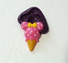 Silicone Mold Minnie Mouse Ice Cream Mould (33mm) Fondant Chocolate Resin Fimo