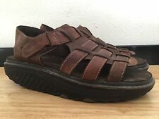 Women's Brown Leather SKECHERS Shape-Ups Sandals/ Size 8.5/ Fair Condition