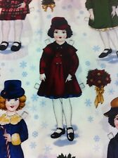 PAPER DOLLS COTTON FABRIC/SUITING FABRIC/QUILT/CHILDREN PRINT/ONE YARD