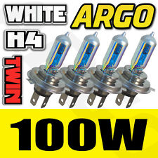 4 PCK H4 472 100W XENON ICE WHITE VISION CAR HIGH LOW BEAM FOG HEADLIGHT BULB UK