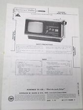 Vtg Sams Photofact Folder Radio Parts Manual Panasonic TR-445T Flip Clock TV