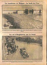 Crue Inondation Région de l'Yser Belgique / George V Bataille d'Ypres WWI 1914