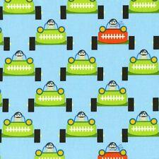 Michael Miller Tamara Kate Les Monsieurs Gentlemen Engines Car Multi Fabric Yard