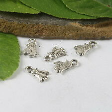 75pcs Tibetan Silver penguin Charms Findings h0631