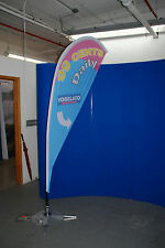 Teardrop outdoor flying banner + stake + graphic print