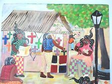 Dominican Republic Art Painting Colorful Fantasy People By  Adalverto    Nobles