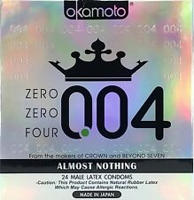 Okamoto 004 Male Latex Condoms 24 ea Exp. 10/2019