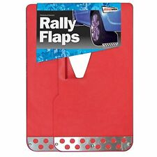 Streetwize Rally Style Vehicle Mud Flaps Pair - Red UXRF2