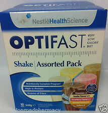 Optifast® VLCD™ Shakes assorted 10 Pack (6 Boxes) (60 Sachets) ---DRP