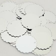 Silver Metallic Round Ruffle Edge 30mm Couture Sequin Paillettes Made in USA