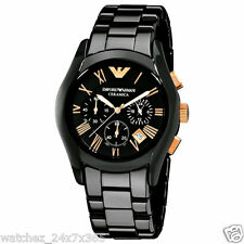EMPORIO ARMANI CERAMICA CHRONOGRAPH MEN'S WATCH AR1410 FULL CERAMIC BODY & BAND