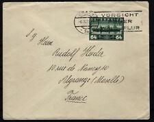 ÖSTERREICH 1937 (DDSG) AUSLANDSBRIEF, GRAZ nach ALGRANSE (France)