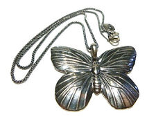"""PRODESSO ISRAEL STERLING SILVER ORNATE BUTTERFLY & NECKLACE 18.5"""""""