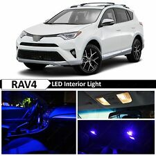 12x Blue Interior LED Lights Package Kit for 2013-2016 Toyota RAV4 + TOOL