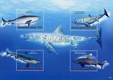 St Vincent & The Grenadines 2015 MNH Sharks 4v M/S I Marine Bull Tiger Shark