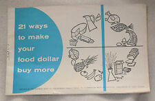 1959 Family Circle Magazine 21 Menu Recipe Pot Roast Cook Book Booklet Insert