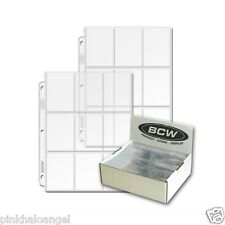15 Heavy Vinyl 9 Pocket Pages for Cards - 18 Cards per Page Capacity