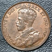 OLD CANADIAN COIN 1918 - ONE CENT - LARGE CENT - George V - WWI era - Nice