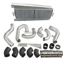 FMIC Intercooler Kit For 87-93 Fox Body 5.0 Ford Mustang Vortech V3 SuperCharger