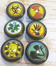 Handmade Zombie Apocalypse Knobs Drawer Pulls Set of 6, Dresser Knob Pulls