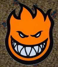"SPITFIRE ORANGE Logo Skate Sticker 4.5 X 6"" skateboards helmets decal"