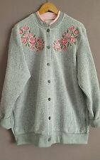 Urban Outfitters VTG Renewal Grey Oversized Floral  Buttoned Cardigan 16/18