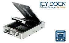 "New ICY Dock MB982SPR-2S R1 2 bay Dual 2.5"" RAID SATA HDD Hard Drive Converter"