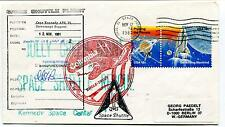 1981 Space Shuttle Flight Kennedy Space Center Patrick Air Space Cover SIGNED