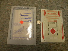 Microscale decals 1/144 144-4 Boeing 727 737 Western Ansett Ana Braniff  K71