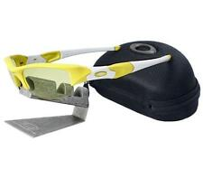 Oakley Custom FLAK JACKET Yellow Mens Womens Sports Cycling Sunglasses with Case