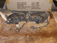 2 Duke #3 Coil Spring Traps  Beaver Fox Bobcat Coyote Wolf Trapping