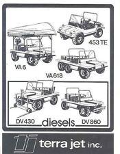 1984 Terra Jet Jeep Diesel 4x4 Truck Brochure Canada wj8969-DS1ZK4