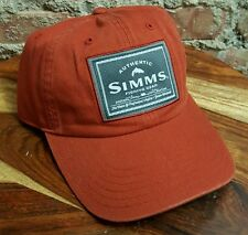 Simms Single Haul Fly Fishing Woven Patch Hat Cap UPF 50+ Orange NWT
